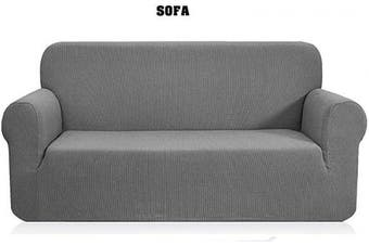 (1pc Sofa, Light Grey) - Mk Collection 1pc Sofa Slipcover Cover for Sure Will Fit Solid Light Grey New