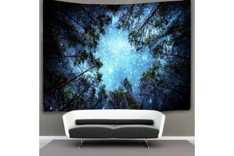 (Large, 4#forest Star) - Forest Starry Tapestry Wall Hanging 3D Printing Forest Tapestry Galaxy Tapestry Forest Milky Way Tapestry Tree Tapestry Night Sky Tapestry Wall Tapestry for Dorm Living Room Bedroom (L, 4#forest star)