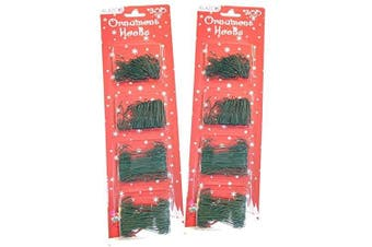 (600 Green) - Value Set 600pc GREEN Ornament Hanging Hooks ALAZCO Holiday Decor - Includes 300 Large (6.4cm ) & 300 Small (3.2cm ) Hooks