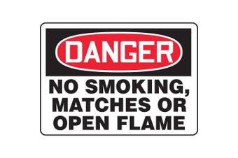 ACCUFORM SIGNS Danger No Smoking Sign, 25cm x 36cm , AL, ENG MSMK025VA