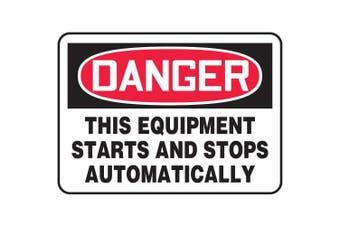 ACCUFORM SIGNS Danger Sign, 25cm x 36cm , R and BK/WHT, AL MEQM088VA