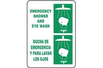 ACCUFORM SIGNS Safety Shower Sign, 36cm x 25cm , GRN/WHT, AL SBMFSR502VA