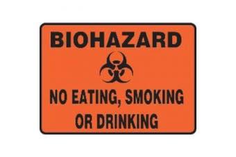 ACCUFORM SIGNS MBHZ525VA Biohazard Sign,25cm x 36cm ,BK/ORN,AL,SURF