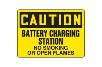 ACCUFORM SIGNS Caution No Smoking Sign, 25cm x 36cm , BK/YEL MELC640VA