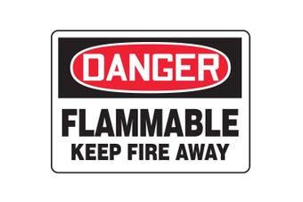 ACCUFORM SIGNS Danger Flammable Fire Sign, 25cm x 36cm , AL MCHL048VA