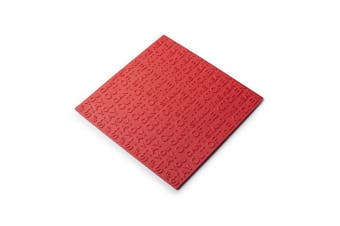 (Red) - Zeal Heat Resistant Non-Slip Trivet Pot Rest, Silicone, Red, 19.4 x 19.4 x 19.4 cm