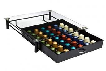 Amtido Nespresso Coffee Capsule Holder Pod Drawer With Tempered Glass Top