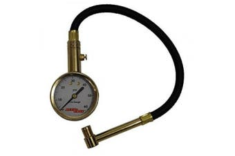 Accu-Gauge RA60X (5-60 PSI) Right Angle Chuck Dial Tyre Pressure Gauge with Hose