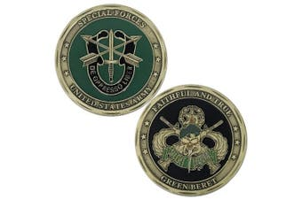 Special Forces Silent Warrior Challenge Coin US Army Faithful And True Green Beret
