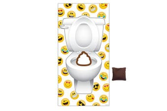 Creative Converting 329377 Beanbag Door Toss Party Game, Show Your Emojions
