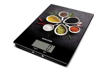 (Spicy) - Salter Spicy Digital Kitchen Scales – Electronic Food Weighing Scale for Cooking / Baking, Easy Clean Modern Design, Perfect Present for Cook / Chef / Baker – 15 Year Guarantee