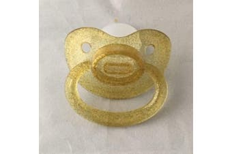 Adult Clear Gold Glitter Dummy/Pacifier