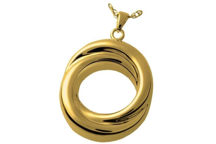 (Gold-Plated Sterling Silver) - Memorial Gallery 3833gp Infinity Love Knot Companion 14K Gold/Silver Plating Cremation Pet Jewellery