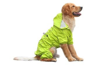 (XXL, Green) - OSPet Summer Comfort Breathable Waterproof Four Feet Raincoat For Large Dog