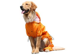 (XXL, Orange) - OSPet Summer Comfort Breathable Waterproof Four Feet Raincoat For Large Dog