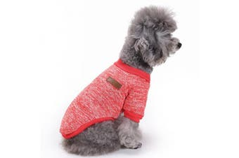 (Large, Red) - Pet Dog Clothes Knitwear Dog Sweater Soft Thickening Warm Pup Dogs Shirt Winter Puppy Sweater for dogs