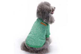 (Small, Green) - Pet Dog Clothes Knitwear Dog Sweater Soft Thickening Warm Pup Dogs Shirt Winter Puppy Sweater for dogs