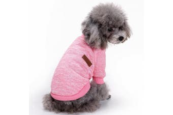 (Medium, Pink) - Pet Dog Clothes Knitwear Dog Sweater Soft Thickening Warm Pup Dogs Shirt Winter Puppy Sweater for dogs