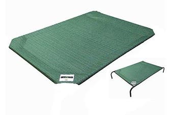 (Small) - Coolaroo Elevated Pet Bed Replacement Cover, Green