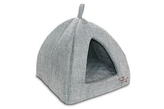(X-Large, Grey) - Best Pet Supplies Corduroy Tent Bed for Pets