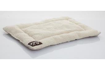 (Large) - Crate Pad Comfy Cushion by 2PET - Ultra Soft Breathable Crate Mat - Machine Washable and Safe Bed for Dogs, Cats - Lightweight Nap Pad for Dog Kennels and Pet Carriers - Select Size