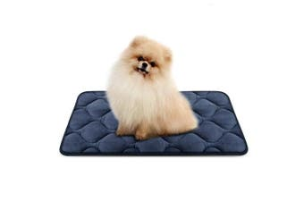 (70cm , Grey) - Dog Bed Mat Washable - Soft Fleece Crate Pad - Anti-slip Matress for Small Medium Large Pets by HeroDog