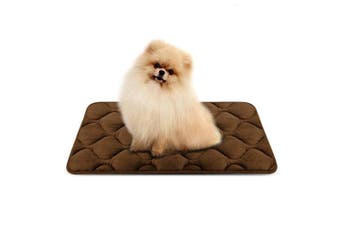 (70cm , Coffee) - Dog Bed Mat Washable - Soft Fleece Crate Pad - Anti-slip Matress for Small Medium Large Pets by HeroDog