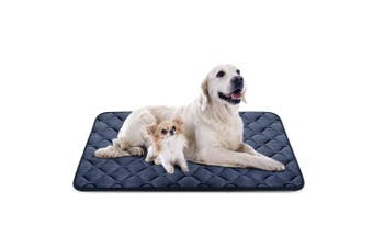 (120cm , Grey) - Dog Bed Mat Washable - Soft Fleece Crate Pad - Anti-slip Matress for Small Medium Large Pets by HeroDog