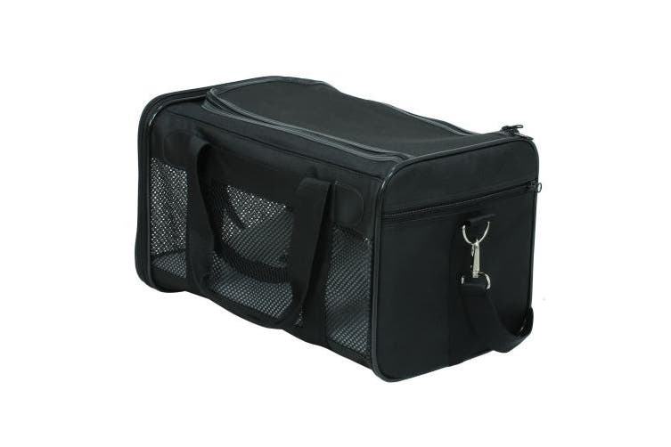 (Large) - X-ZONE PET Airline Approved Soft-Sided Pet Travel Carrier for Dogs and Cats, Black