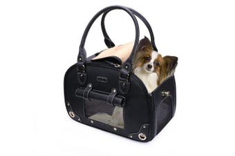 Dog Carrier, Pet Carrier, PetsHome Waterproof Premium Leather Pet Travel Portable Bag Carrier for Cat and Small Dog Home & Outdoor