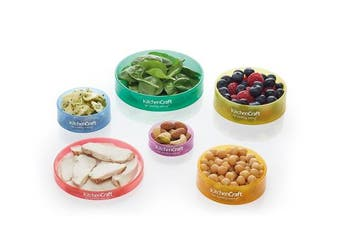 KitchenCraft Healthy Eating Colour-Coded Food Portion Control Rings (Set of 6)