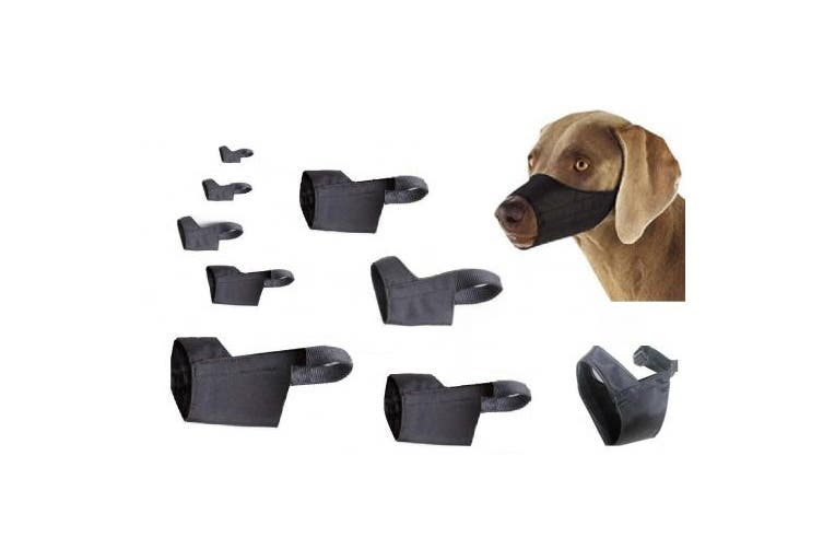 (Size 3XL) - Quick Fit Dog Muzzle with Adjustable Straps, black nylon, Size 0, Size 1, Size 2, Size 3, Size 4, Size 5, Size 3 XL, Size 4 XL, or Size 5 XL