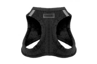 (X-Small, Black Corduroy) - Voyager Soft Harness for Pets - No Pull Vest, Best Pet Supplies