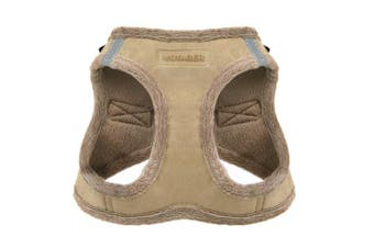 (Small, Latte Suede) - Voyager Soft Harness for Pets - No Pull Vest, Best Pet Supplies