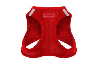 (Medium, Red Corduroy) - Voyager Soft Harness for Pets - No Pull Vest, Best Pet Supplies