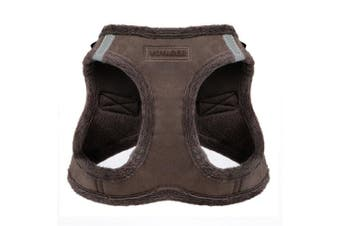 (X-Large, Chocolate Suede) - Voyager Soft Harness for Pets - No Pull Vest, Best Pet Supplies
