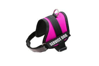 (XS: chest 46cm  - 50cm  neck 28cm  - 36cm , Pink-XS) - FAYOGOO Dog Vest Harness for Service Dogs, Comfortable Padded Dog Training Vest with Reflective Patches and Handle for Large Medium Small Dogs