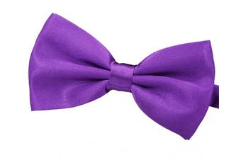(Purple) - Amajiji Formal Dog Bow Ties for Medium & Large Dogs (D112 100% polyester)