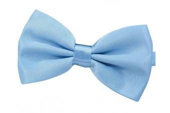 (Light blue) - Amajiji Formal Dog Bow Ties for Medium & Large Dogs (D115 100% polyester)