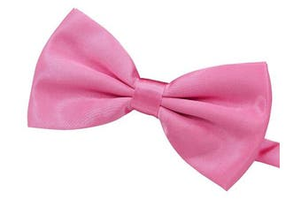 (Pink) - Amajiji Formal Dog Bow Ties for Medium & Large Dogs (D115 100% polyester)