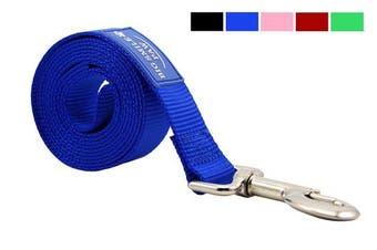 (Blue) - BIG SMILE PAW Dog Leash Nylon Durable Loop handle,1.5m Long 2.5cm Wide