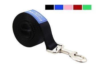(Black) - BIG SMILE PAW Dog Leash Nylon Durable Loop handle,1.5m Long 2.5cm Wide