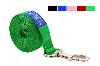 (Green) - BIG SMILE PAW Dog Leash Nylon Durable Loop handle,1.5m Long 2.5cm Wide