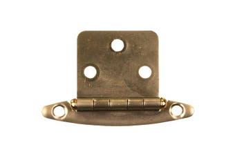 (antiquebrass) - JR Products 70605 Free Swing Flush Mount Hinge - Antique Brass