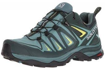 (4 UK, Multicolor (Artic/Darkest Spruce/Sulphur Spring)) - Salomon Women's Ultra 3 GTX Low Rise Hiking Shoes