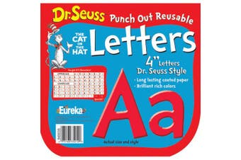 DR SEUSS PUNCH OUT REUSABLE RED LETTERS 10cm