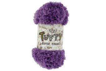 (2795 Aubergine) - King Cole Tufty Super Chunky 200g Knitting Yarn (2795 Aubergine)