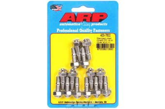 ARP Valve Cover Fastener Stud Hex Nuts Polished 14 pc P/N 400-7602