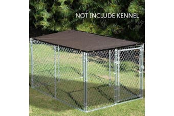 (3m x 1.2m, Mocha Brown) - Alion Home Sun Block Dog Run & Pet Kennel Shade Cover (Dog kennel not included) (3m x 1.2m, Mocha Brown)