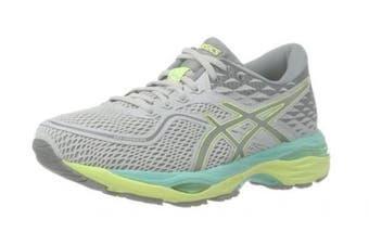 (6 UK, Grey (Mid Grey/Carbon/Safety Yellow)) - Asics Women's Gel-Cumulus 19 Running Shoes
